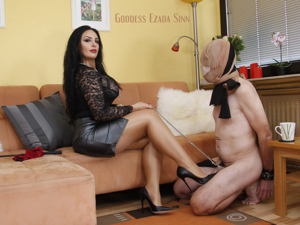 Mistress Ezada Sinn worn panties humiliation