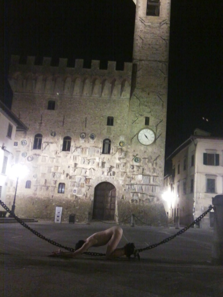 Palazzi dei Vicari in Scarperia village by night (city of cutlery in front of Mugello circuit).