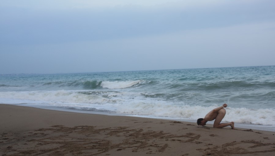 Showing my devotion to Mistress Ezada – Cambrills beach – Tarragona province - Spain