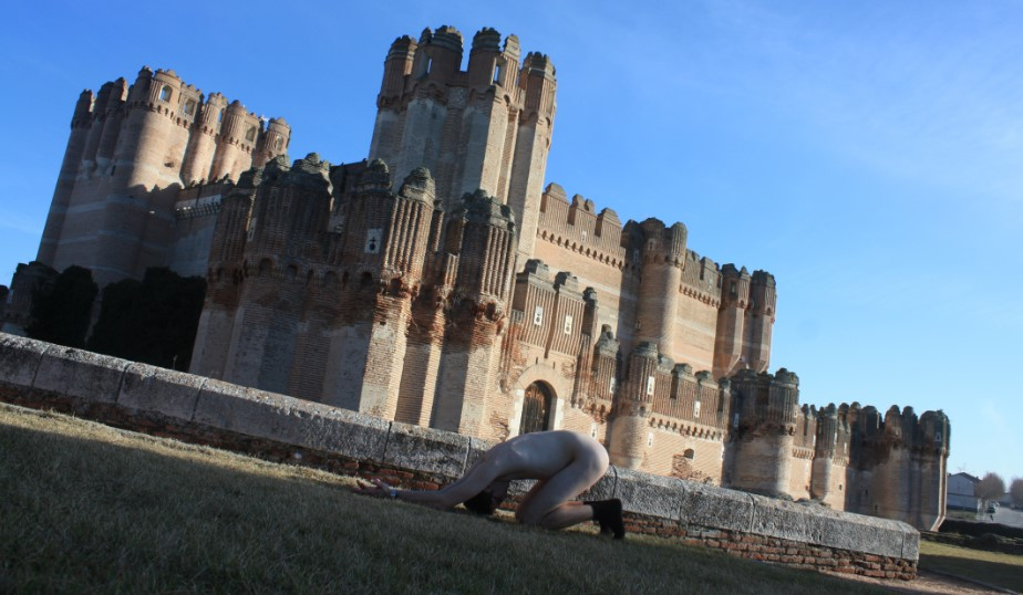 Waiting position In front of Coca castle – Segovia Province – Spain