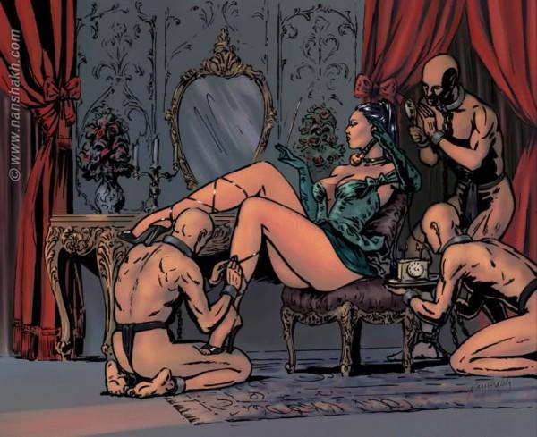 Рабыни королевы порно