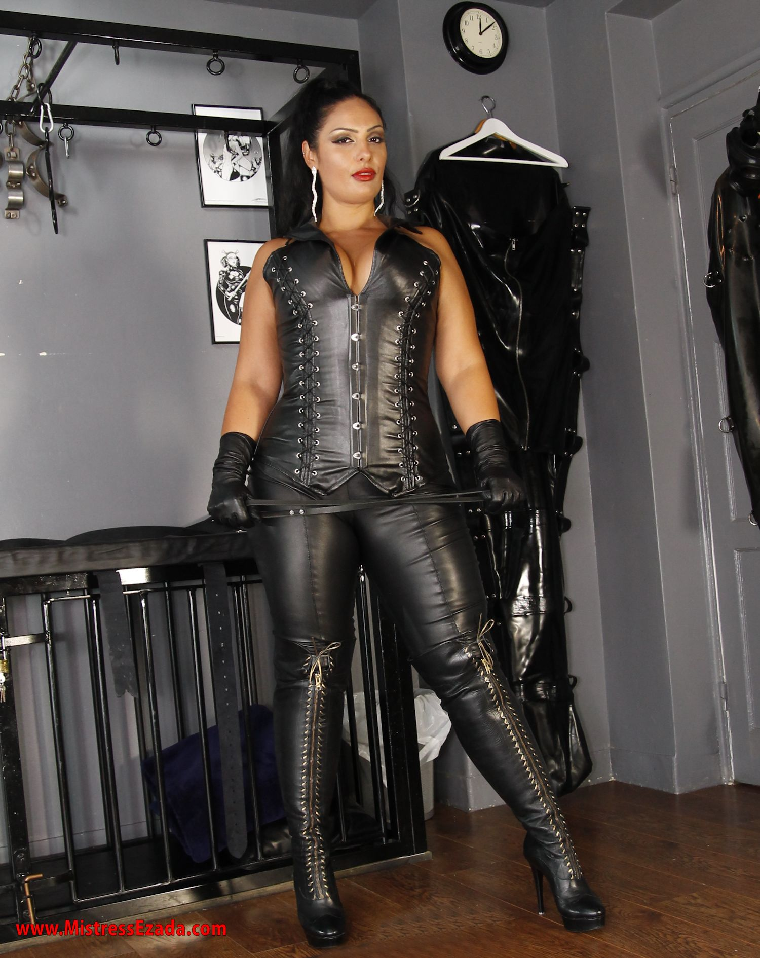 Leather high heels boots Ezada Sinn London Dominatrix