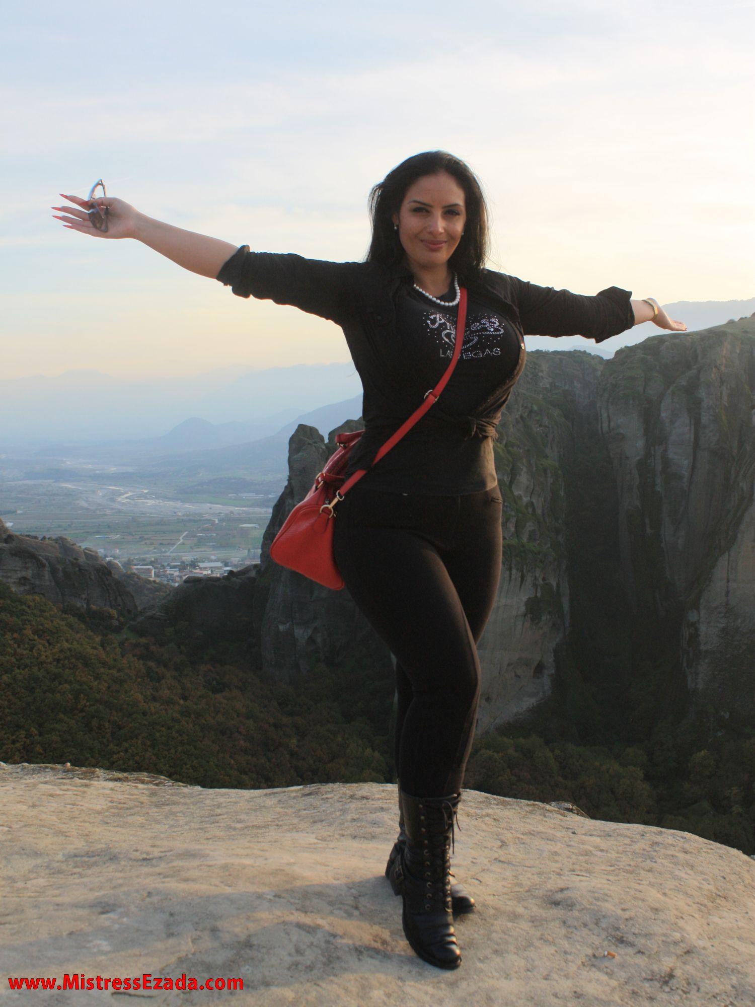 Ezada Sinn Domina Meteora visiting Greece