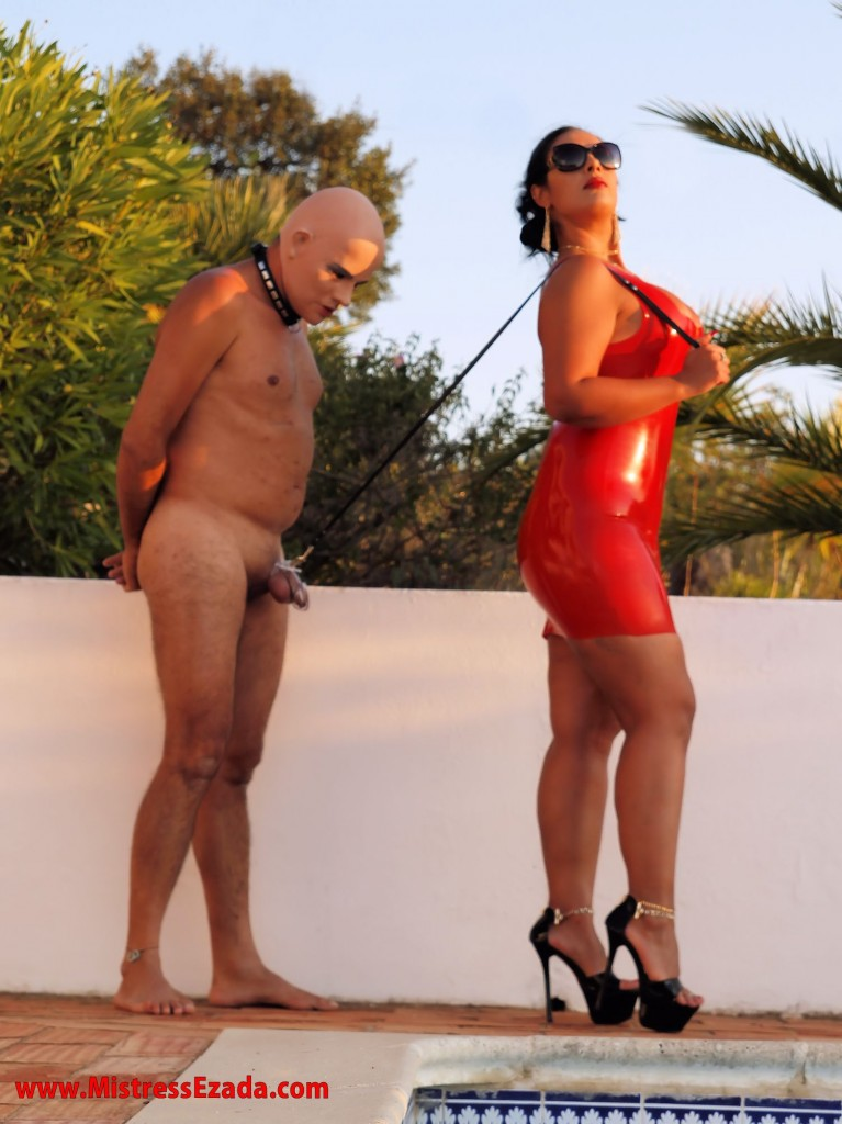 Mistress Ezada Thailand Bangkok latex male chastity