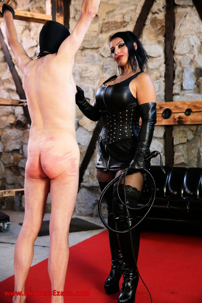 whipping, leather