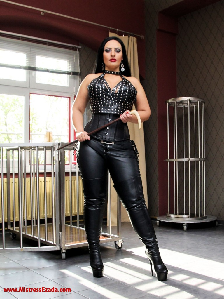 studded leather. boots, femdom