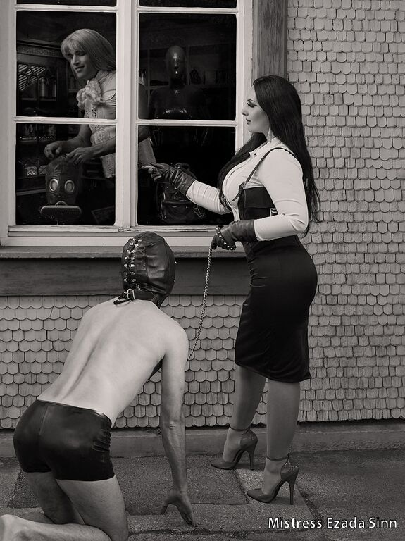 Mistress Ezada Sinn femdom art sardax gag shop