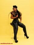 Femdom Goddess Female supremacy fur boots leather
