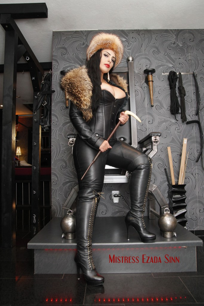 Goddess Ezada Sinn fur leather boots