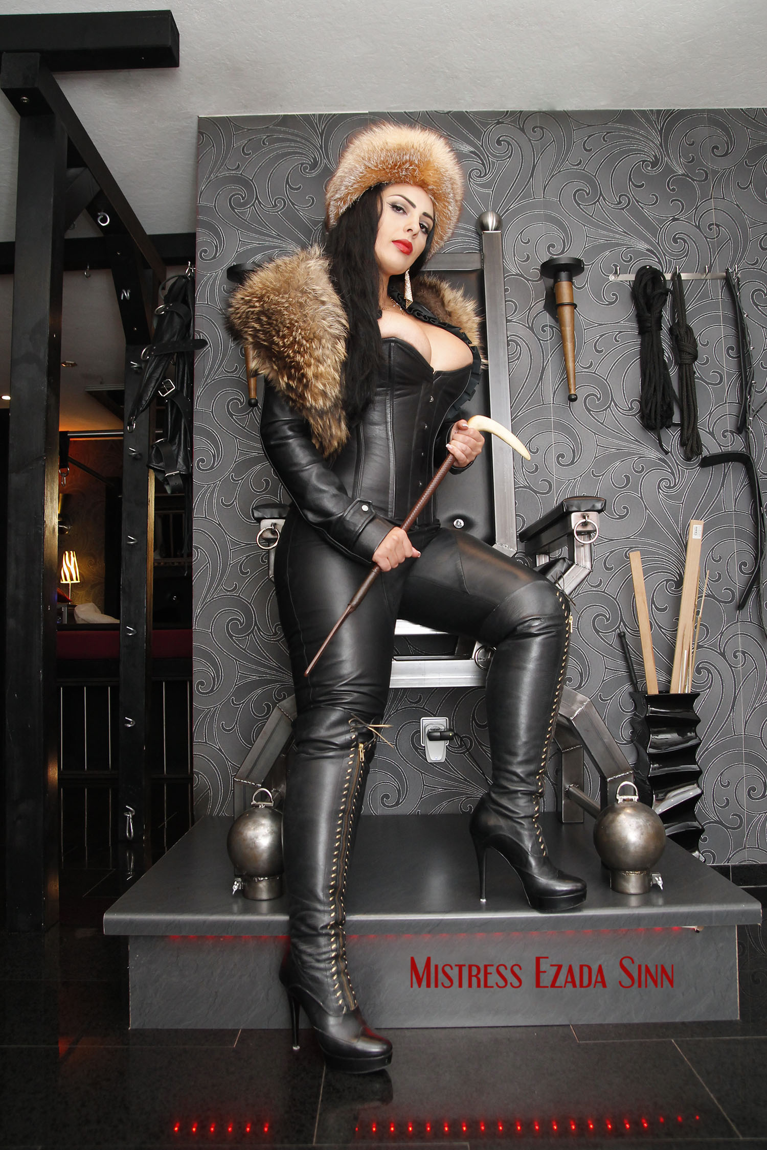 Leather boots mistress