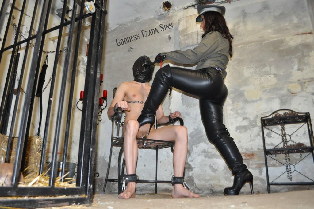 Goddess Ezada Sinn female supremacy imprisonment boots