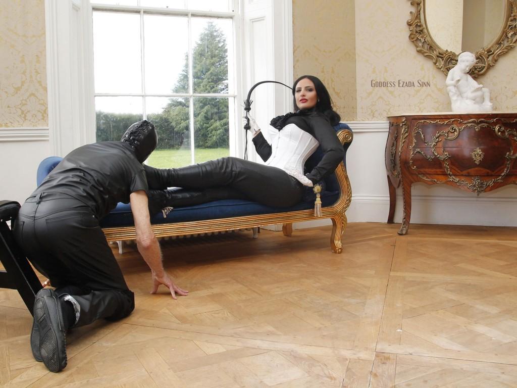 Goddess Ezada Sinn leather boots female supremacy