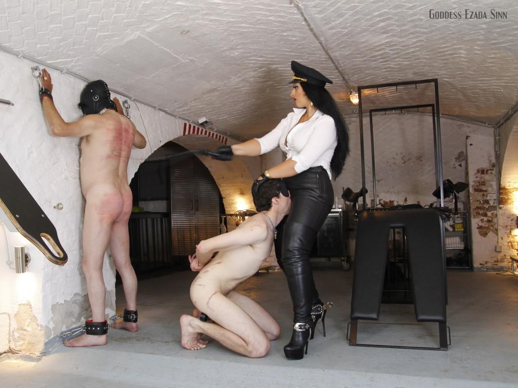 Goddess Ezada Sinn whipping orgasm leather