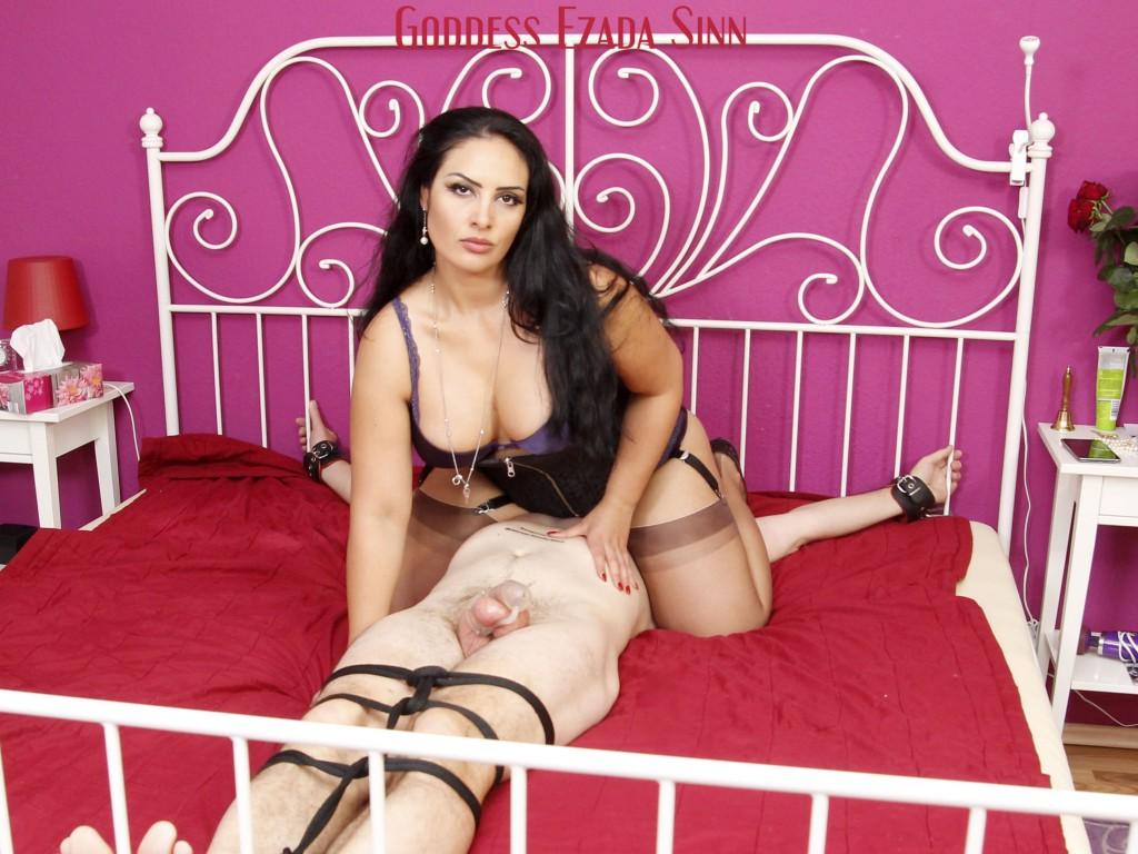 Goddess Ezada Sinn face sitting farting orgasm control chastity