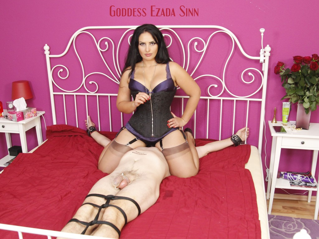 Goddess Ezada Sinn face sitting farting orgasm control chastity key holder