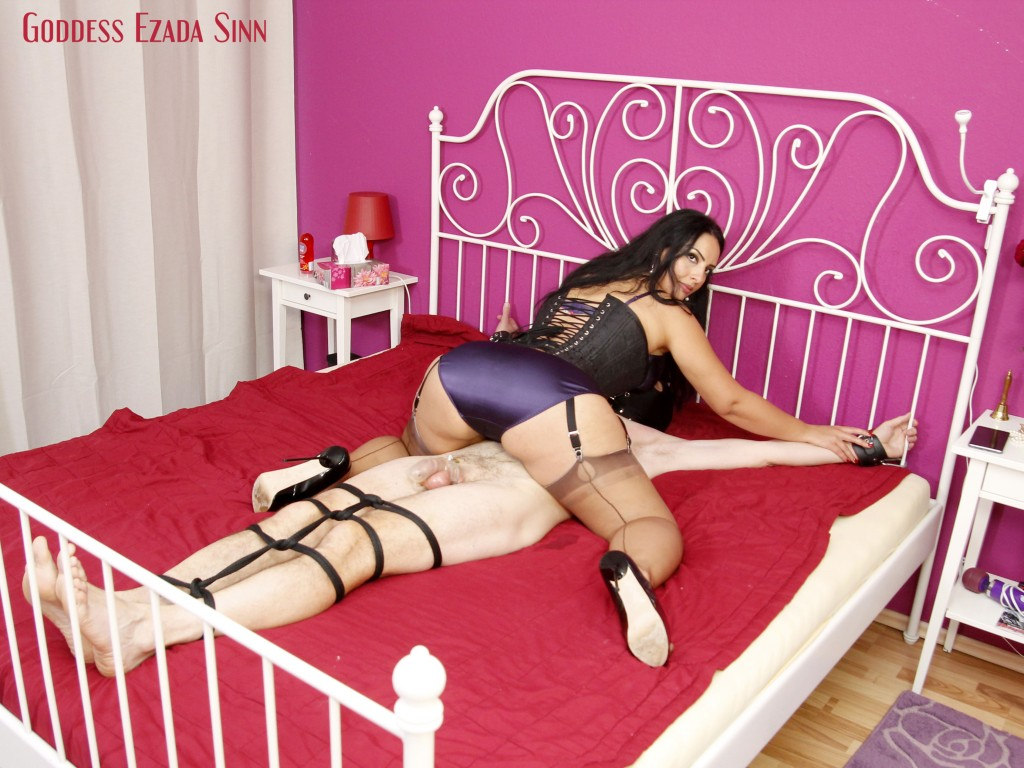 Goddess Ezada Sinn face sitting farting orgasm control satin panties