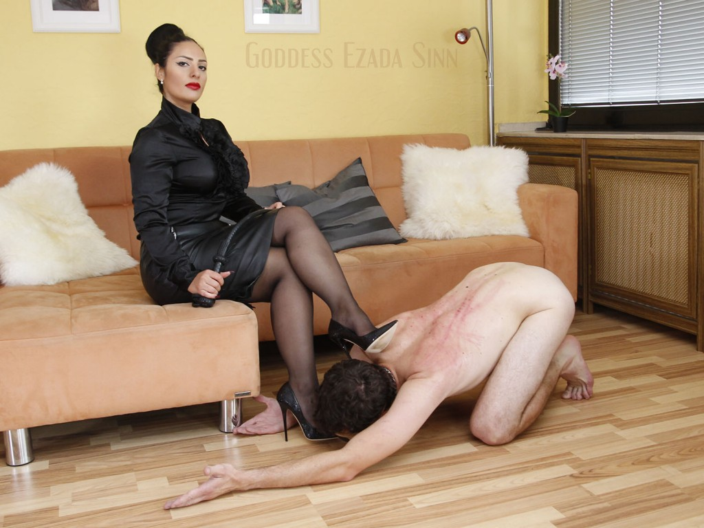 Goddess Ezada Sinn pantyhose domination high heels female supremacy