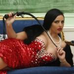 Goddess Ezada Sinn red dress female supremacy