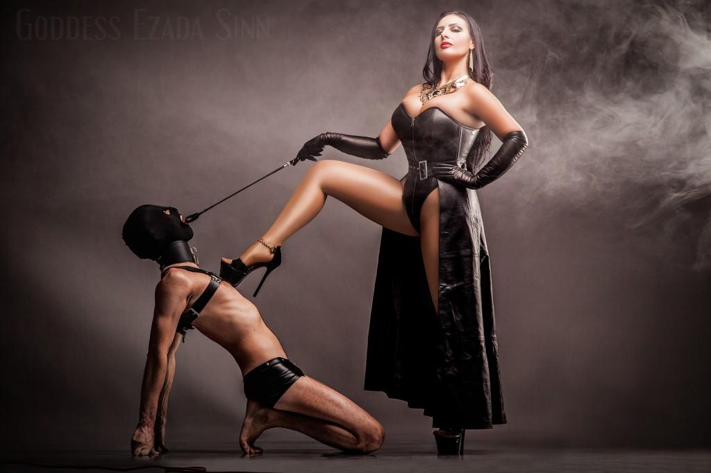 Goddess Ezada Sinn leather female supremacy femdom