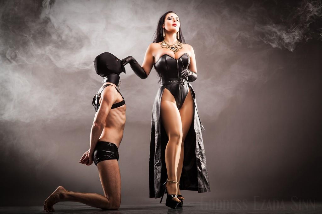 Goddess Ezada Sinn leather female supremacy femdom high heels