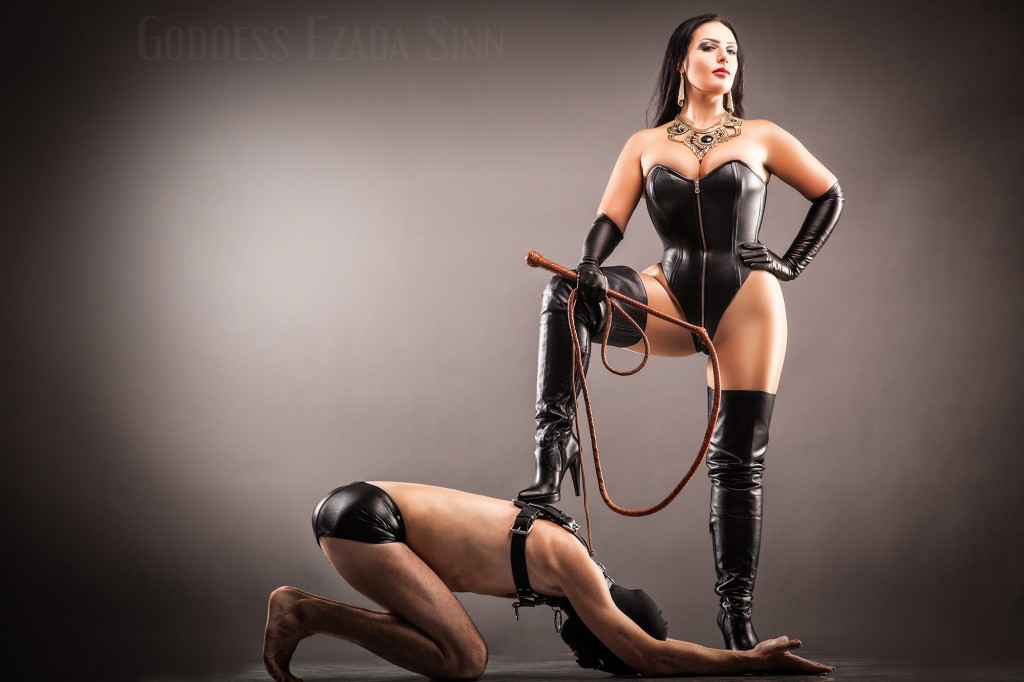 Goddess Ezada Sinn leather female supremacy femdom whip boots