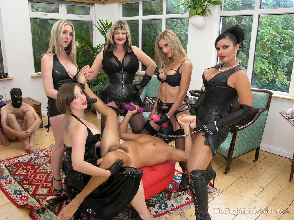 5dommes strap-on gang bang Ezada Sinn the english mansion