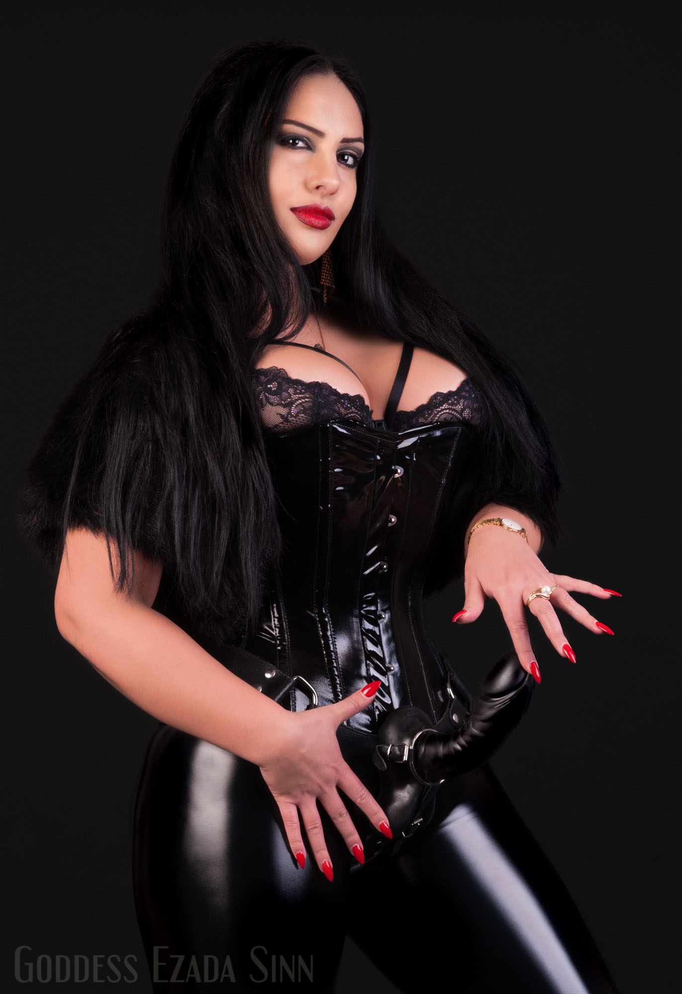 Ezada Sinn strap-on photo by Hans watermark
