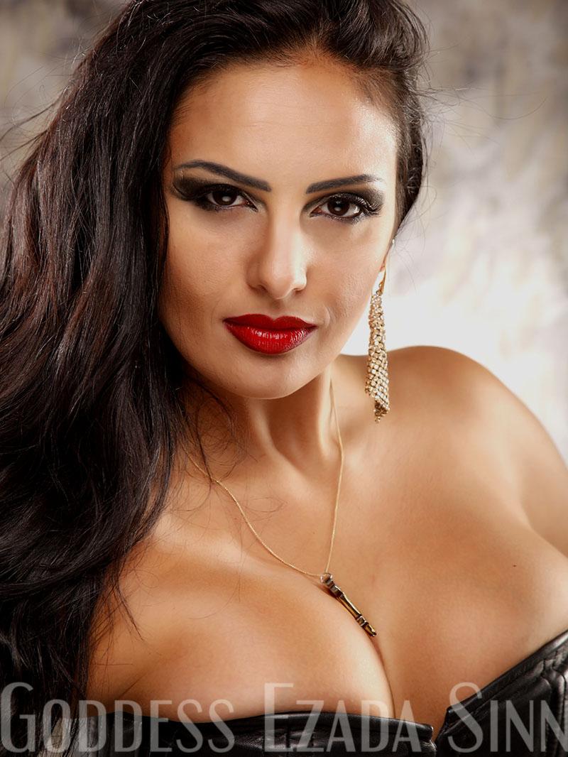 Goddess Ezada Sinn portrait red lips