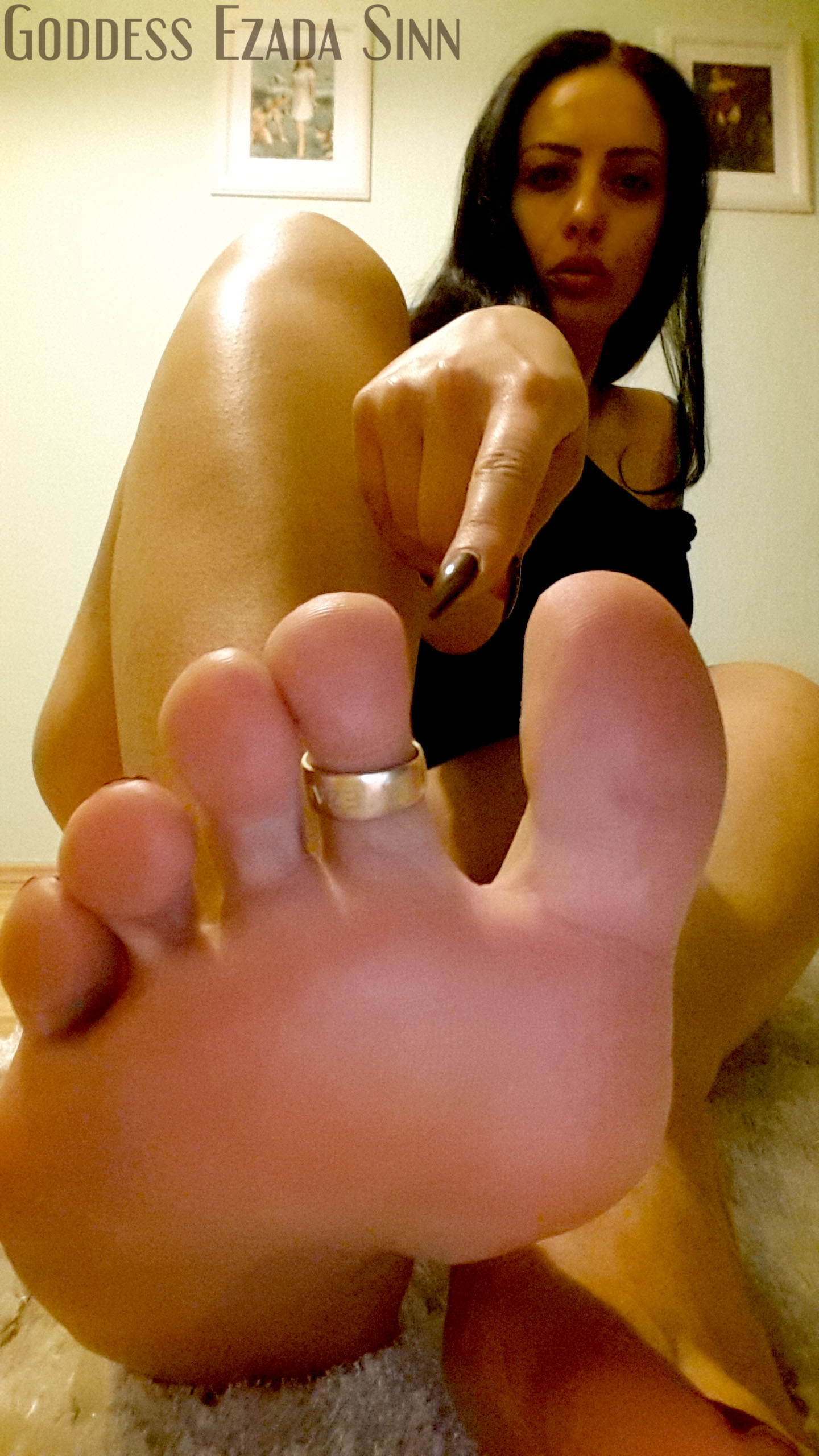 image Foot worship after home from a date