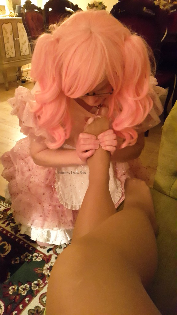 pink poodle maid foot massage