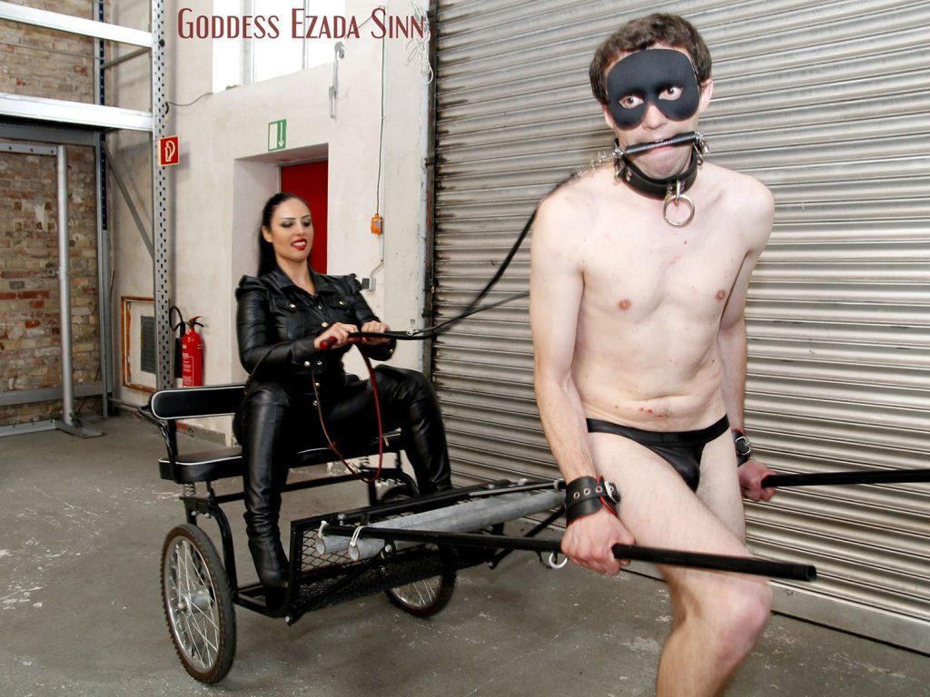 Pony training Ezada Sinn traffic cones femdom