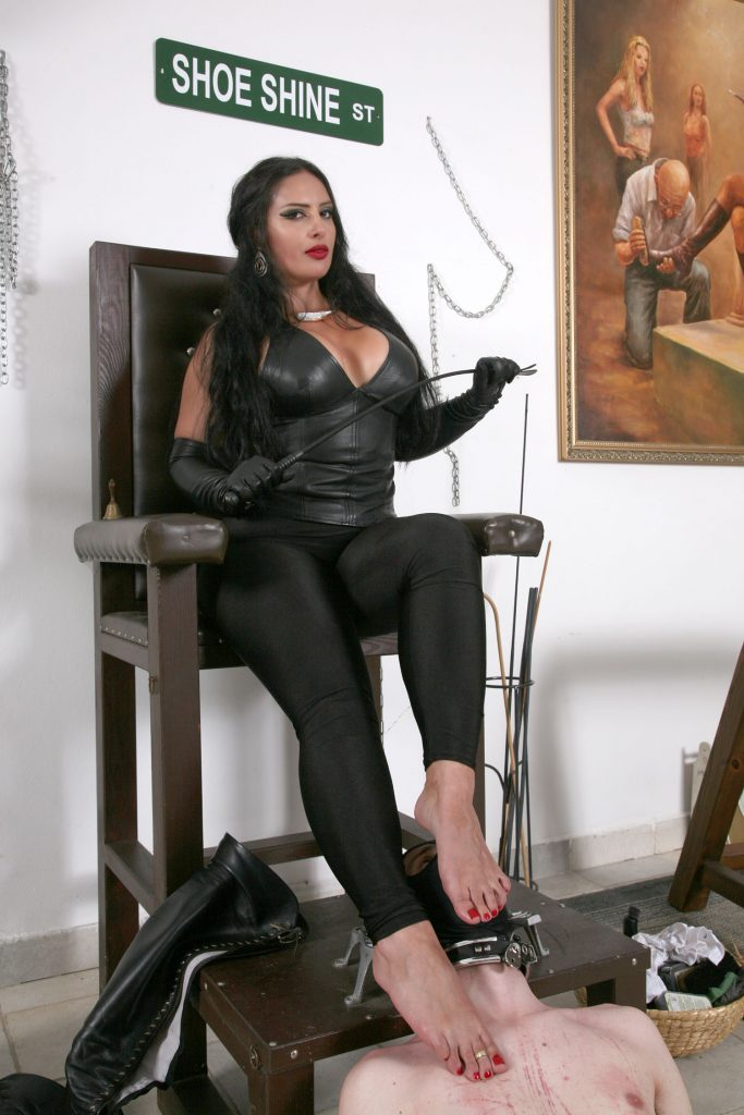 Goddess Ezada Sinn foot fetish OWK leather