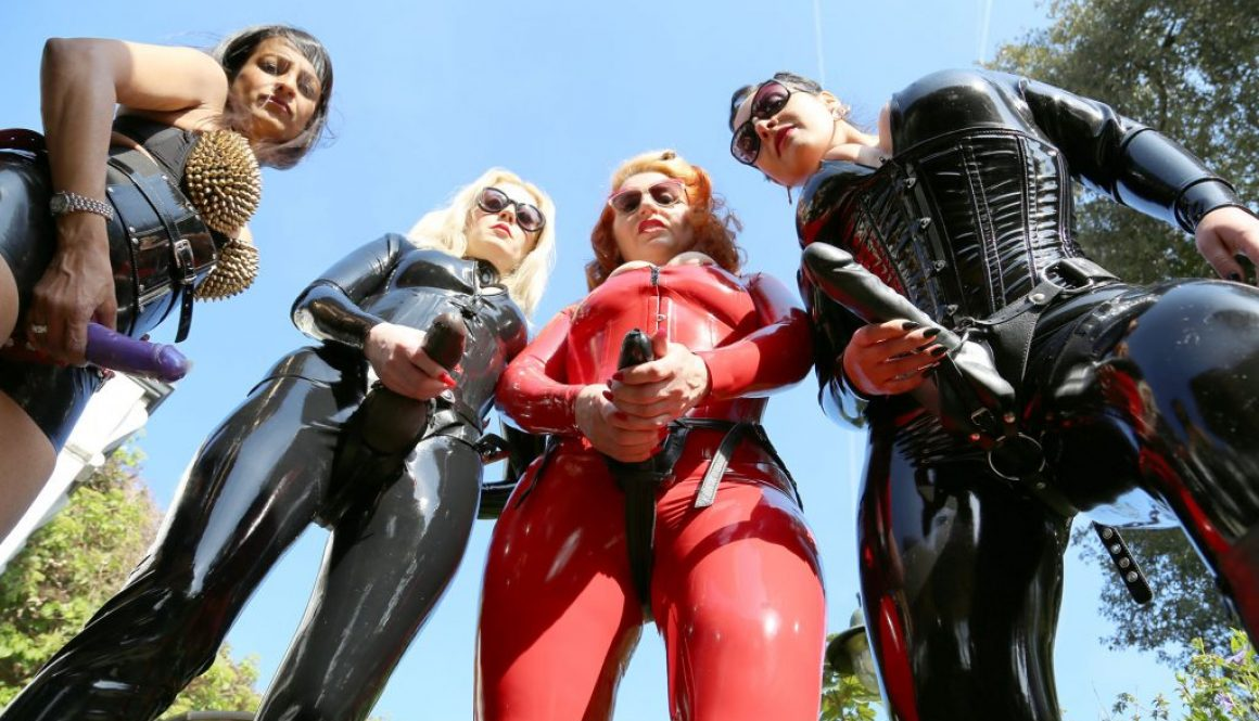 4 mistress gang bang of helpless horny male slave 3
