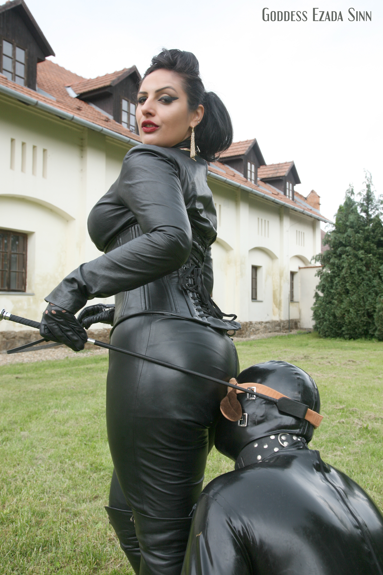 Someone her femdom latex mistress dog slave seeing