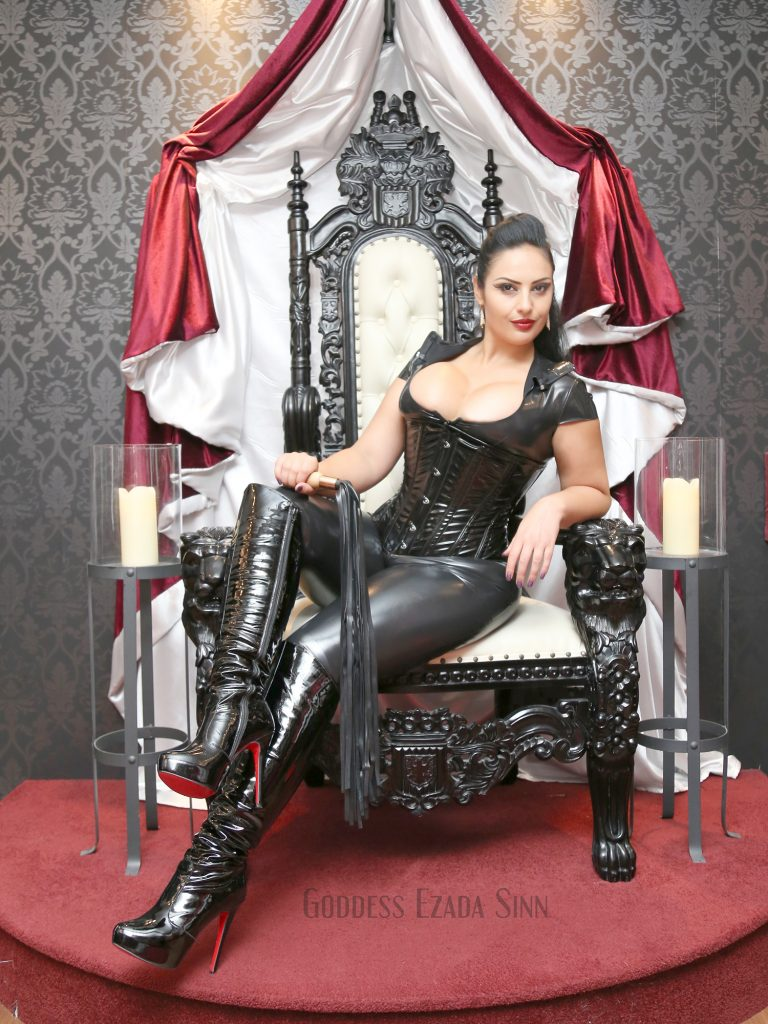 goddess-ezada-sinn-throne-shiny-boots