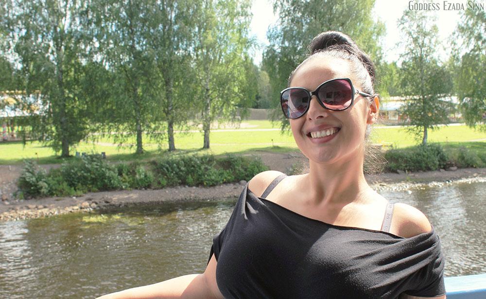 Goddess Ezada Sinn trip Russia boat vacation