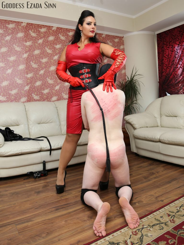 whipping-ezada-sinn-poodle-red-leather