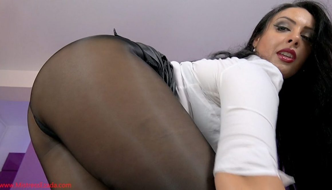 of this pantyhose fetish woman