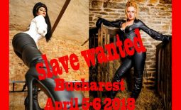 Filming slave wanted in Bucharest, 5-6th of April 2018